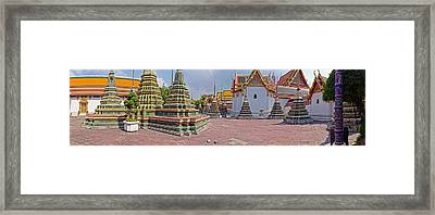 Architectural Feature Of A Temple, Wat Framed Print by Panoramic Images