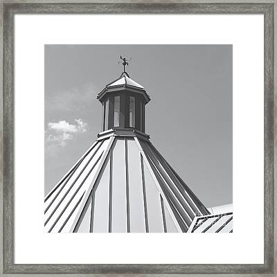Architectural Gray Framed Print by Ann Horn