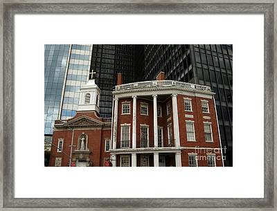 Architectural Juxtaposition In Manhattan Framed Print by Anna Lisa Yoder