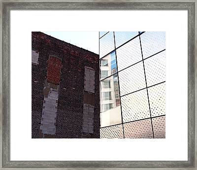 Architectural Juxtaposition On The High Line Framed Print