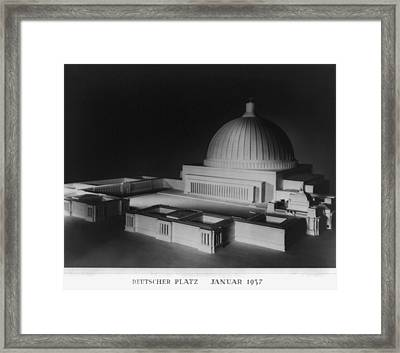 Architectural Model Of Berlin Framed Print