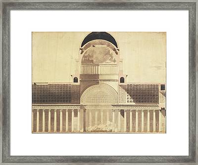 Architectural Project For The Church Of The Madeleine Framed Print