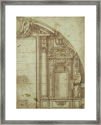 Architectural Study Framed Print by Alonso Cano