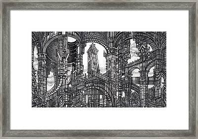 Architectural Utopia 11 Fragment Framed Print
