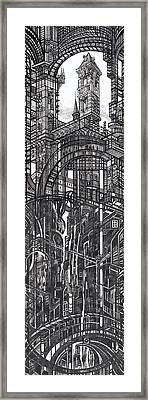 Architectural Utopia 12 Fragment Framed Print
