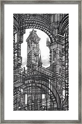 Architectural Utopia 6 Fragment Framed Print