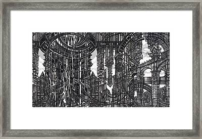 Architectural Utopia 9 Fragment Framed Print