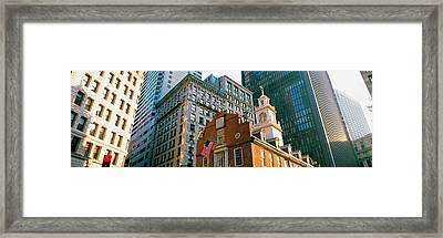 Architecture Boston Ma Usa Framed Print by Panoramic Images