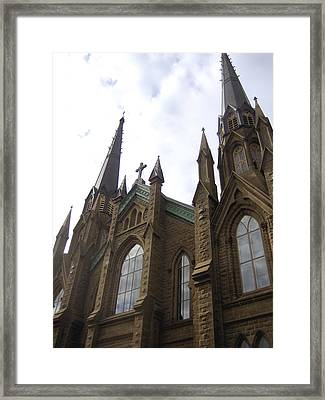 architecture churches Gothic Spires Framed Print by Ann Powell