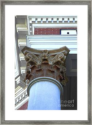 Architecture Column Madison Ga Court House Framed Print by Reid Callaway
