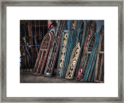Architecture For Sale Framed Print by Brenda Bryant