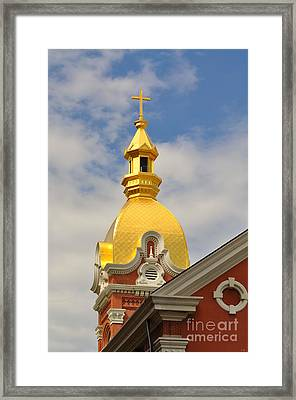 Architecture - Golden Cross Framed Print