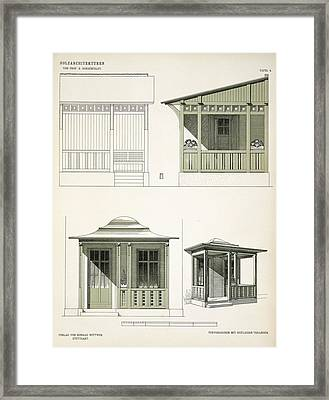 Architecture In Wood, C.1900 Framed Print by Richard Dorschfeldt