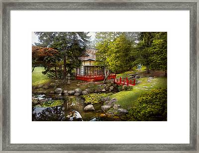 Architecture - Japan - Tranquil Moments  Framed Print by Mike Savad