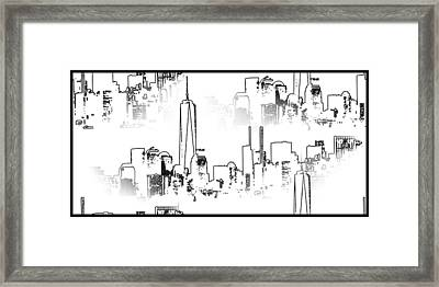 Architecture Of New York City Framed Print by Dan Sproul