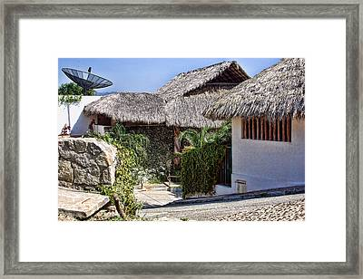 Architecture With Thathed Roofs Framed Print