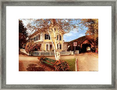 Architecture - Woodstock Vt - Where I Live Framed Print by Mike Savad