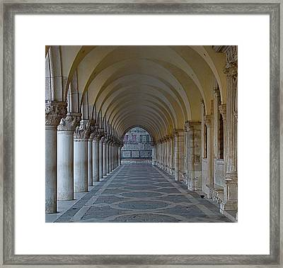 Archway In Piazza San Marco Framed Print