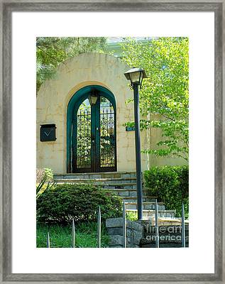Framed Print featuring the photograph Archway In Swan Lake by Janette Boyd