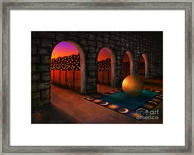 Archway Of Silence Framed Print