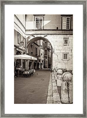 Archway Over Street Framed Print