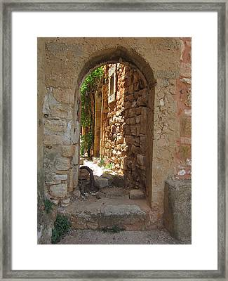Framed Print featuring the photograph Archway by Pema Hou