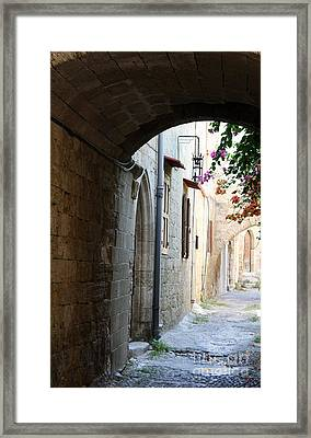 Archway Rhodos City Framed Print by Christiane Schulze Art And Photography