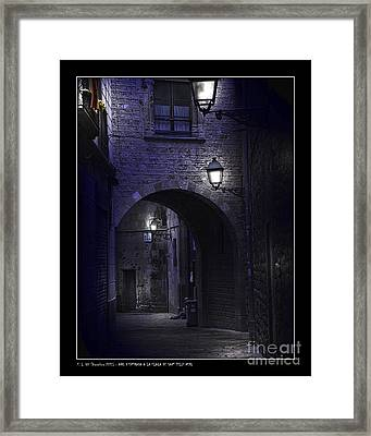 Archway To The Square Of St. Philip Neri's Framed Print