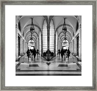 Framed Print featuring the photograph Archway Trieste by Graham Hawcroft pixsellpix