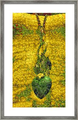 Arcimboldo Vegetable Heart Framed Print by Lorri Crossno