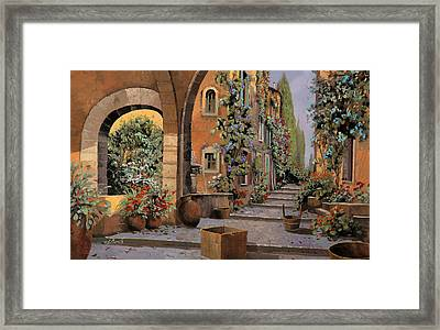 Arco E Arcata Framed Print by Guido Borelli