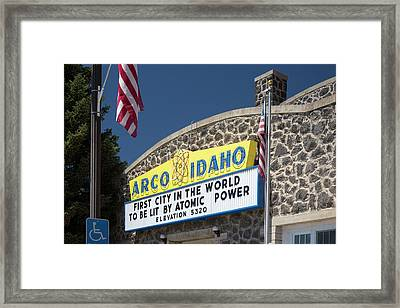 Arco Framed Print by Jim West