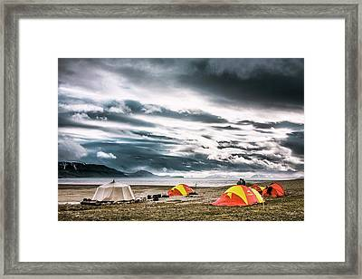 Arctic Camp Framed Print by Paul Williams