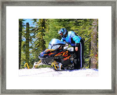Arctic Cat Snowmobile Framed Print