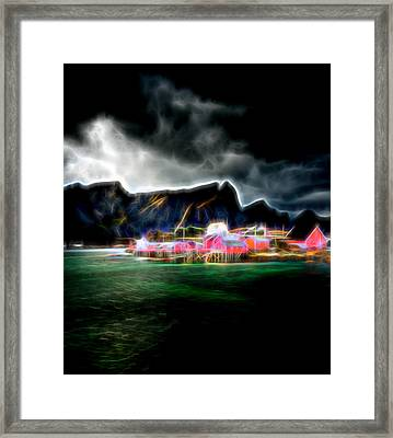 Framed Print featuring the photograph Arctic Electric by Maciej Markiewicz