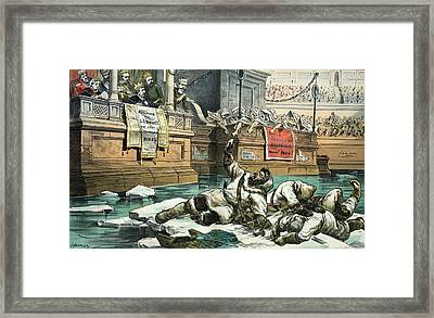 Arctic Exploration Debate, 1882 Satire Framed Print