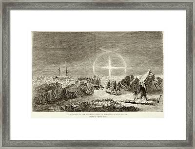 Arctic Funeral And Moon Dogs Framed Print by British Library