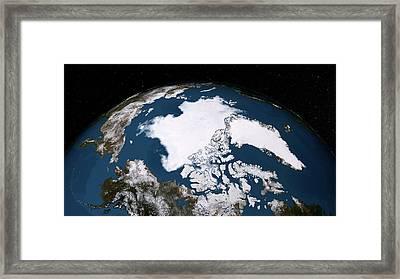 Arctic Ice Minimum Extent Framed Print