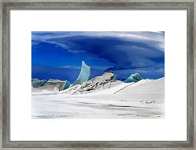Arctic Pressure Ridge Framed Print