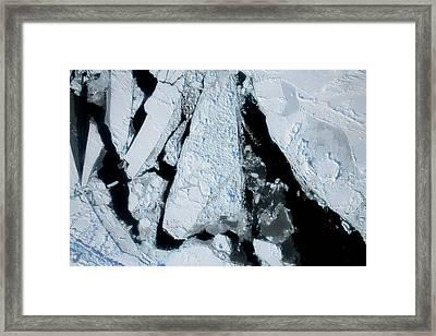 Arctic Sea Ice At Lowest Maximum Framed Print by Nasa/operation Ice Bridge