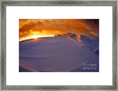 Framed Print featuring the photograph Arctic Sea Ocean Water Antarctica Winter Snow by Paul Fearn