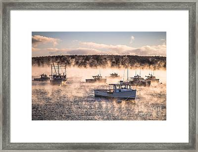 Arctic Sea Smoke Framed Print by Benjamin Williamson