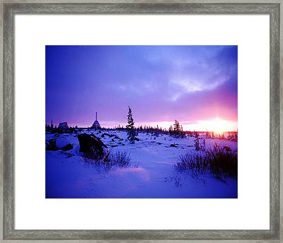Arctic Sunset In Churchill Canada Framed Print