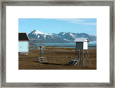 Arctic Weather Station Framed Print by Dr P. Marazzi