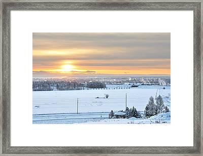 Arctic Winter Solstice  Framed Print