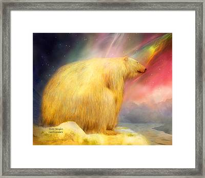 Arctic Wonders Framed Print by Carol Cavalaris