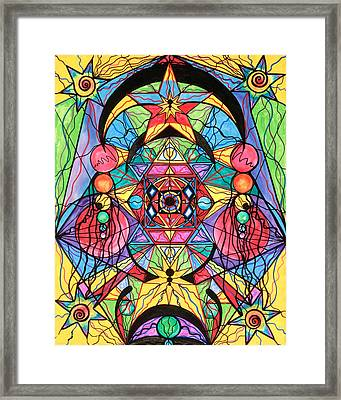 Arcturian Ascension Grid Framed Print