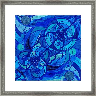 Arcturian Calming Grid Framed Print by Teal Eye  Print Store