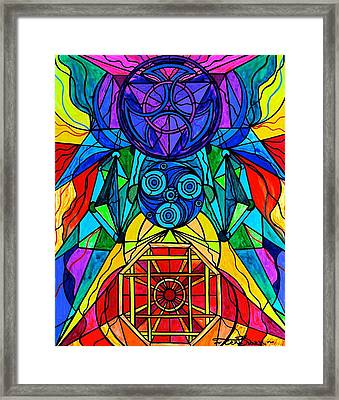 Arcturian Conjunction Grid Framed Print by Teal Eye  Print Store