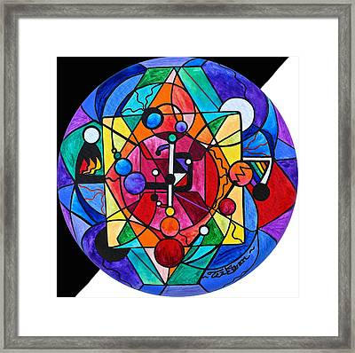Arcturian Devine Order Grid Framed Print by Teal Eye  Print Store